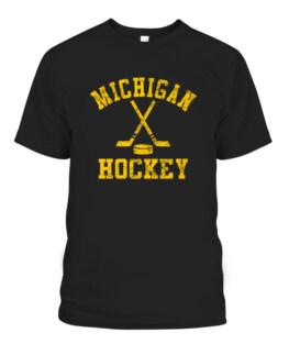Vintage Michigan Hockey Graphic Tee Shirt Adult Size S-5XL