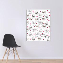 Small Dog Canvas Cotton 1 Piece - Portrait Full Size