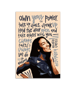 """Woman own your power take up space Wall Poster Vertical 7x11"""" 16x24"""" 24x36"""""""