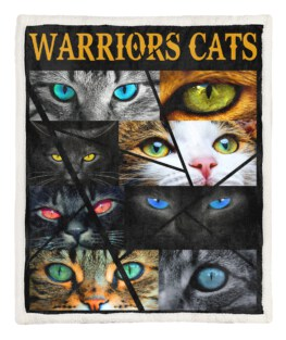 Warriors Cats Eye Cats 60x80 Inch Adult Blanket