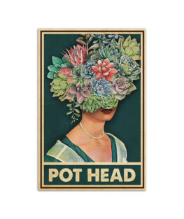 """Pot head beautiful girl with flowers Wall Poster Vertical 7x11"""" 16x24"""" 24x36"""""""
