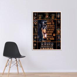 Rottweiler Canvas Cotton 1 Piece - Portrait Full Size