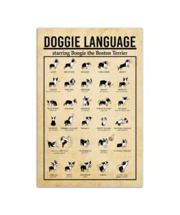 "Doggie language Wall Poster Vertical 7x11"" 16x24"" 24x36"""