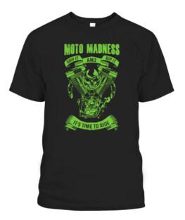 Moto Madness Dad Shirt T-Shirt And Biker Grandpa Racing Tee T-Shirts, Hoodie, Sweatshirt, Adult Size S-5XL