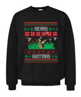 Duck Hunting Ugly Christmas Sweater Graphic Tee Shirt Adult Size S-5XL