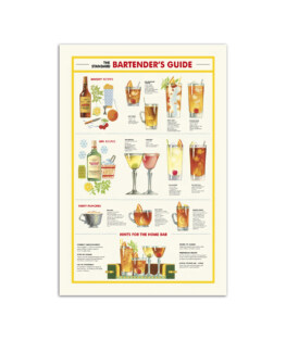 """Bartenders guide Wall Poster Vertical 7x11"""" 16x24"""" 24x36"""""""