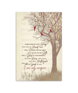 """I can only imagine mercyme Wall Poster Vertical 7x11"""" 16x24"""" 24x36"""""""