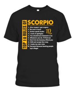 Top 10 rules of Scorpio October November Birthday Gift T-Shirts, Hoodie, Sweatshirt, Adult Size S-5XL