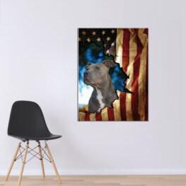 Personal Dog Canvas Cotton 1 Piece - Portrait Full Size