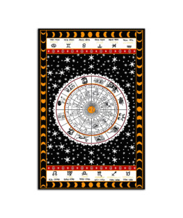"Tapestry zodiac Wall Poster Vertical 7x11"" 16x24"" 24x36"""