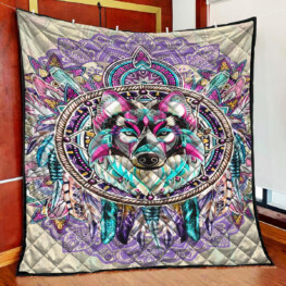 Super Wolf Full Size Quilt King Queen Twin Throw