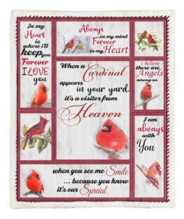 When A Cardinal 60x80 Inch Adult Blanket