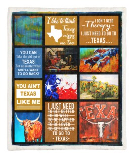 Texas I Dont Need Therapy 60x80 Inch Adult Blanket