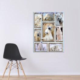 White Bear Canvas Cotton 1 Piece - Portrait Full Size