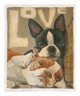 Two Dog 60x80 Inch Adult Blanket