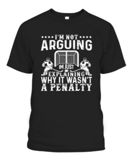 Hockey Player Arguing Gift Funny Ice Hockey Graphic Tee Shirt Adult Size S-5XL