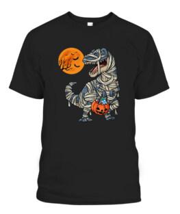 Halloween Dinosaur Mummy T Rex Scary T-Shirts, Hoodie, Sweatshirt, Adult Size S-5XL