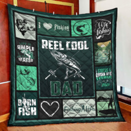 Reel Cool Dad Full Size Quilt King Queen Twin Throw