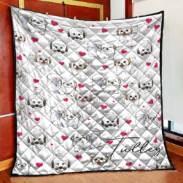 Small Dog Full Size Quilt King Queen Twin Throw