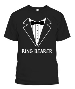 Ring Bearer Wedding Tux Bachelor Ceremony Groom T-Shirts, Hoodie, Sweatshirt, Adult Size S-5XL