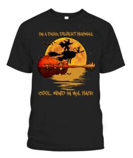 On A Dark Desert Highway-Cool Wind In My Hair Witch T-Shirts, Hoodie, Sweatshirt, Adult Size S-5XL