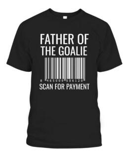 Mens Goalie Dad Shirt - Hockey Dad Shirt - Hockey Goalie Graphic Tee Shirt Adult Size S-5XL