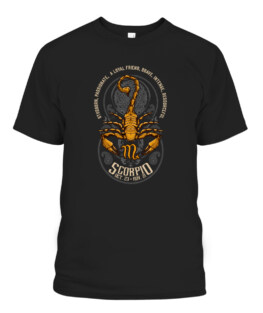 Unique Scorpio Art Gift for Scorpion Lovers Horoscope T-Shirts, Hoodie, Sweatshirt, Adult Size S-5XL