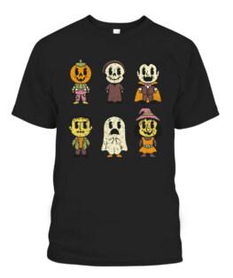 Vintage Halloween Pumpkin Witch Ghost Vampire Retro Gift T-Shirts, Hoodie, Sweatshirt, Adult Size S-5XL