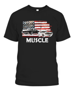 Muscle Car Lover American Flag 4th of July Tee Independence T-Shirts, Hoodie, Sweatshirt, Adult Size S-5XL