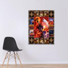 Red Horse Canvas Cotton 1 Piece - Portrait Full Size