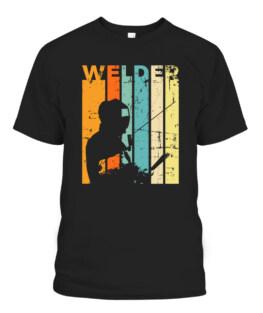 Retro Metal Worker Gift Vintage Welder Welding Graphic Tee Shirt Adult Size S-5XL
