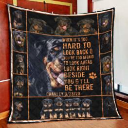 Rottweiler Full Size Quilt King Queen Twin Throw