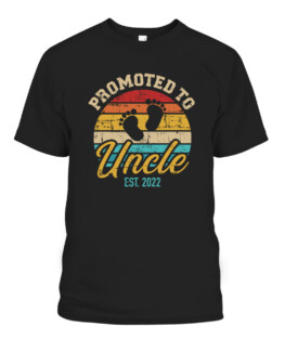 Promoted to uncle 2022 vintage retro T-Shirts, Hoodie, Sweatshirt, Adult Size S-5XL
