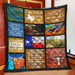 Texas I Dont Need Therapy Full Size Quilt King Queen Twin Throw