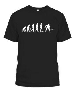 Ice Hockey Player Evolution Hockey Gift Graphic Tee Shirt Adult Size S-5XL