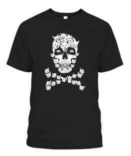 Halloween Cat Skull Costume Black Cat Kitty Skeleton Costume T-Shirts, Hoodie, Sweatshirt, Adult Size S-5XL