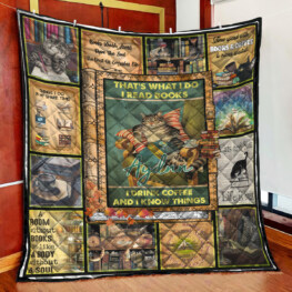 That What I Do I Read Book Full Size Quilt King Queen Twin Throw