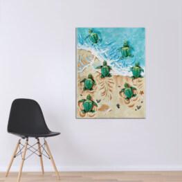 Turtle Canvas Cotton 1 Piece - Portrait Full Size