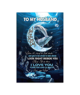 """Gift for Husband from wife with love Wall Poster Vertical 7x11"""" 16x24"""" 24x36"""""""