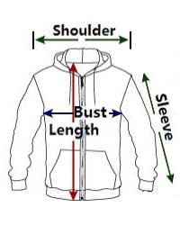 sizing 3d zipper hoodie